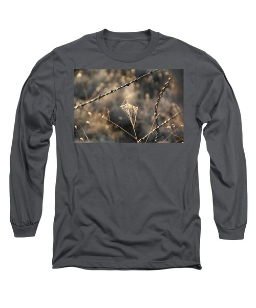 Long Sleeve T-Shirt featuring the photograph web by David S Reynolds