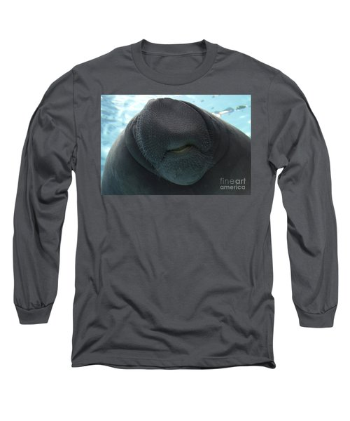 West Indian Manatee Smile Long Sleeve T-Shirt