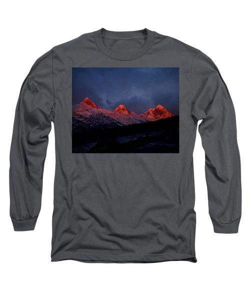 West Side Teton Sunset Long Sleeve T-Shirt by Raymond Salani III