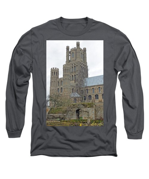 West Tower Of Ely Cathedral  Long Sleeve T-Shirt