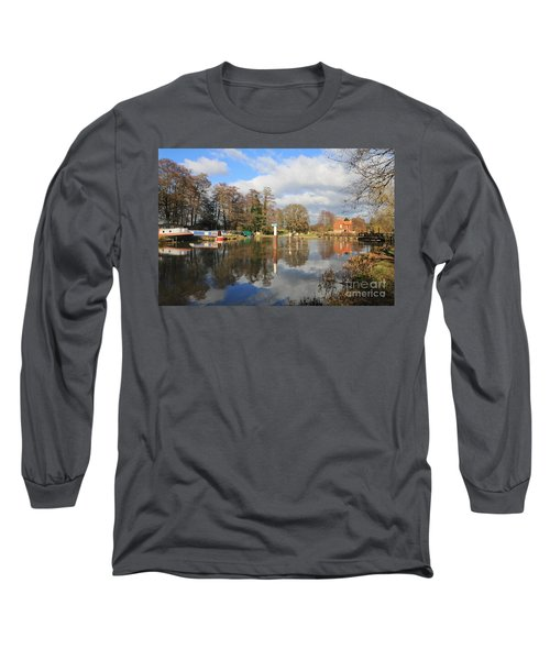 Wey Canal Surrey England Uk Long Sleeve T-Shirt