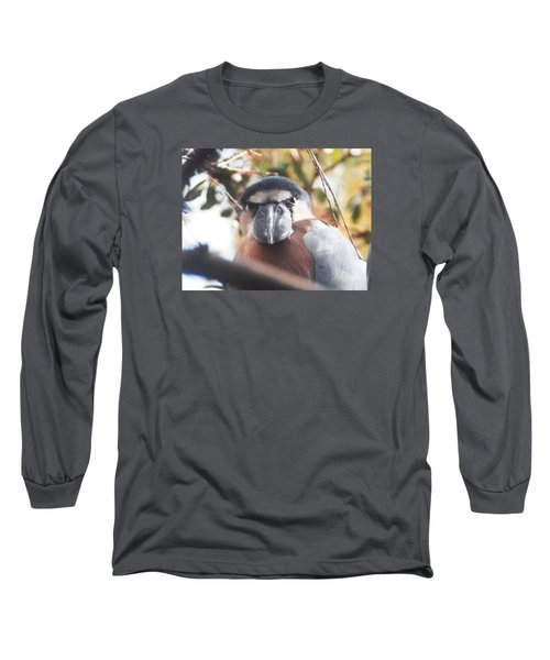 Long Sleeve T-Shirt featuring the photograph Funny Bird Face by Belinda Lee