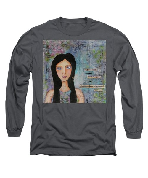Long Sleeve T-Shirt featuring the painting What Is A Friend # 2 by Nicole Nadeau