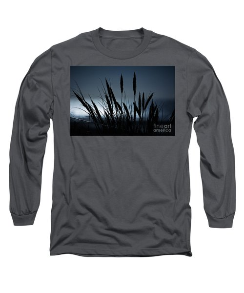 Wheat Stalks On A Dune At Moonlight Long Sleeve T-Shirt