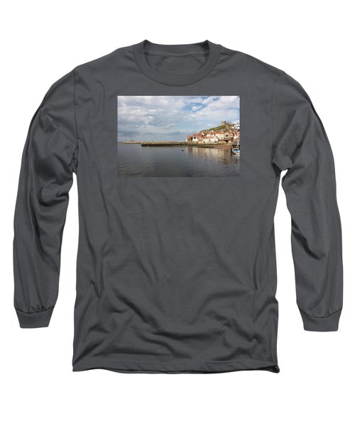 Long Sleeve T-Shirt featuring the photograph Whitby Abbey N.e Yorkshire by Jean Walker