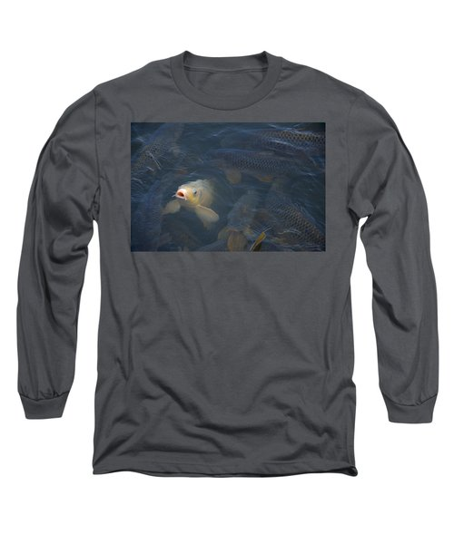 White Carp In The Lake Long Sleeve T-Shirt by Chris Flees