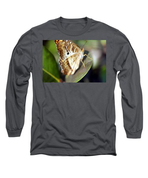 Long Sleeve T-Shirt featuring the photograph White Peacock Butterfly by Greg Allore