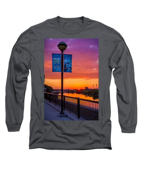 White River Sunset Long Sleeve T-Shirt