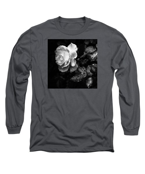 Long Sleeve T-Shirt featuring the photograph White Rose Full Bloom by Darryl Dalton