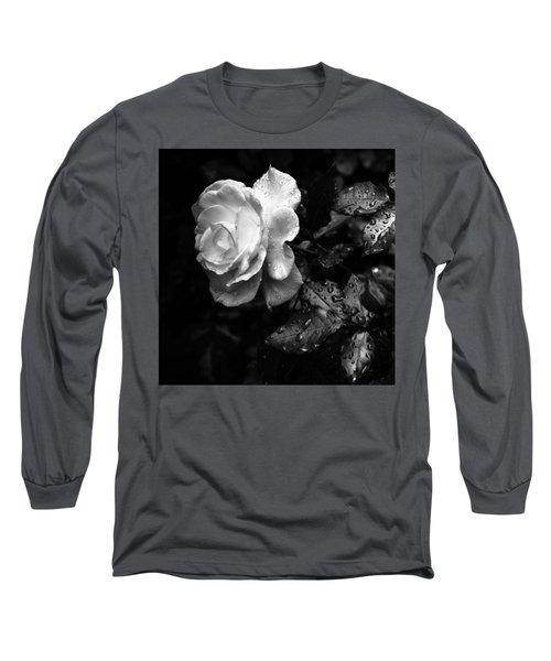 White Rose Full Bloom Long Sleeve T-Shirt