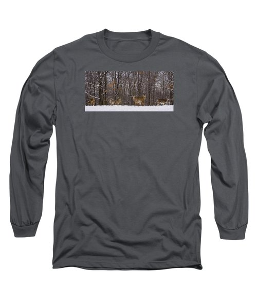 White Tailed Deer Long Sleeve T-Shirt by Anthony Sacco