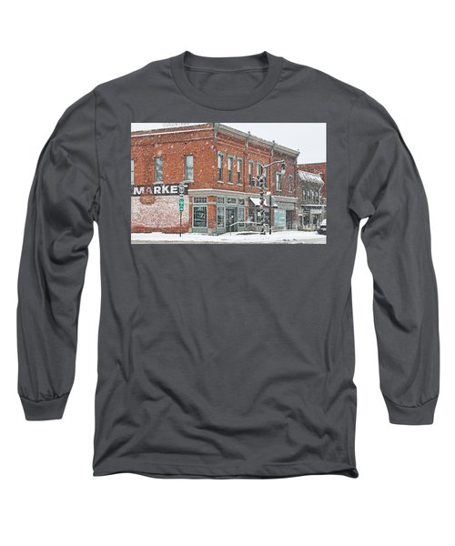 Whitehouse Ohio In Snow 7032 Long Sleeve T-Shirt