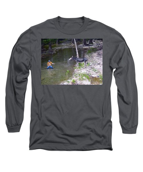Long Sleeve T-Shirt featuring the photograph Who Is More Stubborn by John Glass