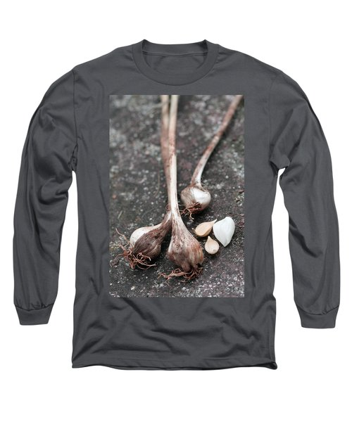 Wild Garlic Long Sleeve T-Shirt by Melinda Fawver