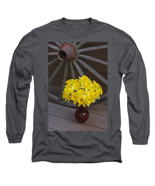 Long Sleeve T-Shirt featuring the photograph Wild West Daffodils by Diane Alexander