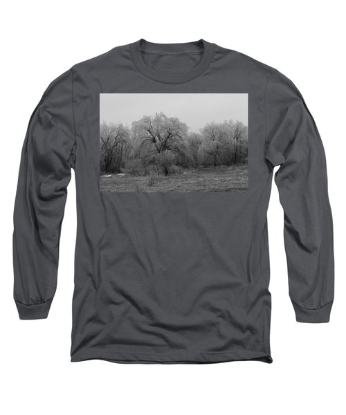 Willow Trees Iced B/w Long Sleeve T-Shirt