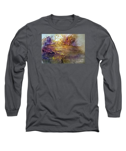 Long Sleeve T-Shirt featuring the painting Wind In Fall by Allison Ashton