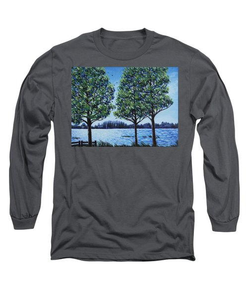 Wind In The Trees Long Sleeve T-Shirt by Penny Birch-Williams