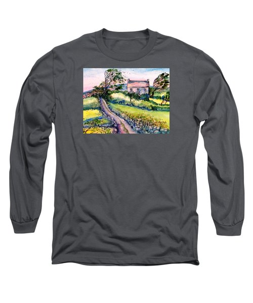 Long Sleeve T-Shirt featuring the painting Windy Day Clear Island  by Trudi Doyle