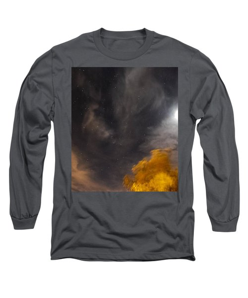 Long Sleeve T-Shirt featuring the photograph Windy Night by Angela J Wright