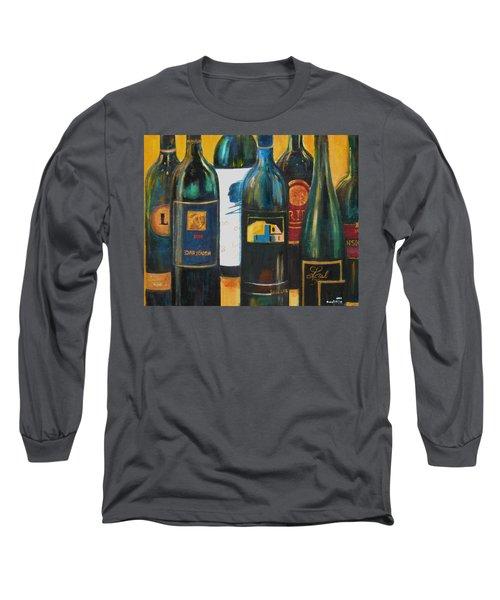 Wine Bar Long Sleeve T-Shirt by Sheri  Chakamian