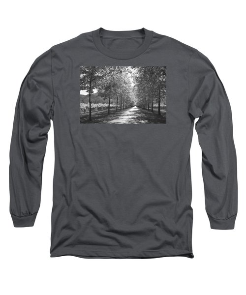 Wine Country Napa Black And White Long Sleeve T-Shirt by Suzanne Gaff