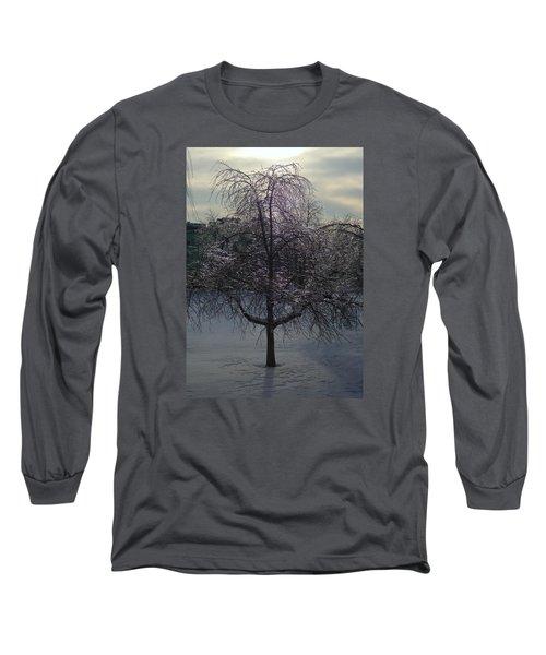 Winter Candelabrum Long Sleeve T-Shirt by Henryk Gorecki
