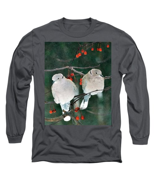 Winter Doves Long Sleeve T-Shirt