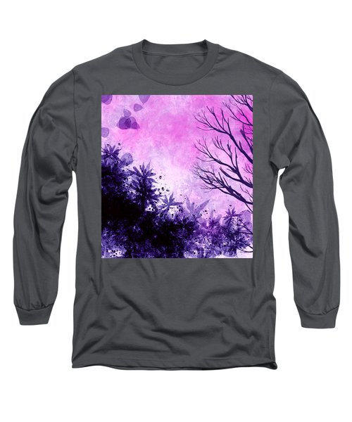 Long Sleeve T-Shirt featuring the painting Winter Dreams  by Persephone Artworks