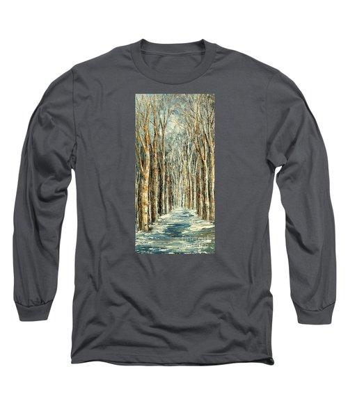 Long Sleeve T-Shirt featuring the painting Winter Dreams by Tatiana Iliina