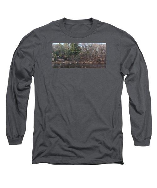 Winter Flight Long Sleeve T-Shirt by Debra     Vatalaro
