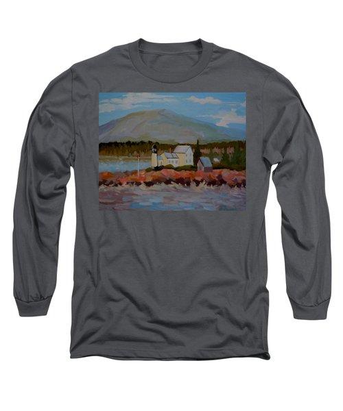 Winter Harbor Light Long Sleeve T-Shirt