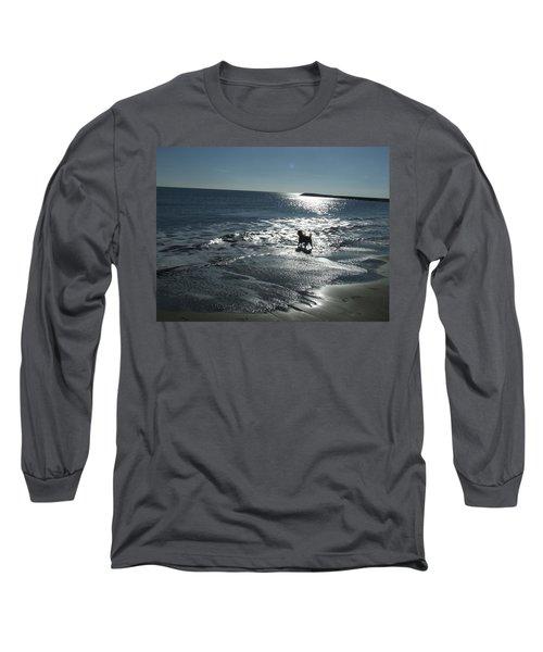 winter in Les Ste Marie de la mer Long Sleeve T-Shirt