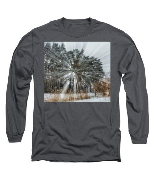 Winter Light In A Forest Long Sleeve T-Shirt