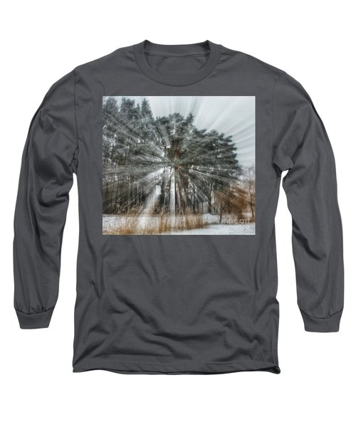 Winter Light In A Forest Long Sleeve T-Shirt
