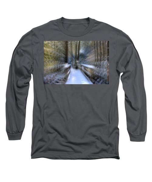 Winter Light On Bridge Long Sleeve T-Shirt