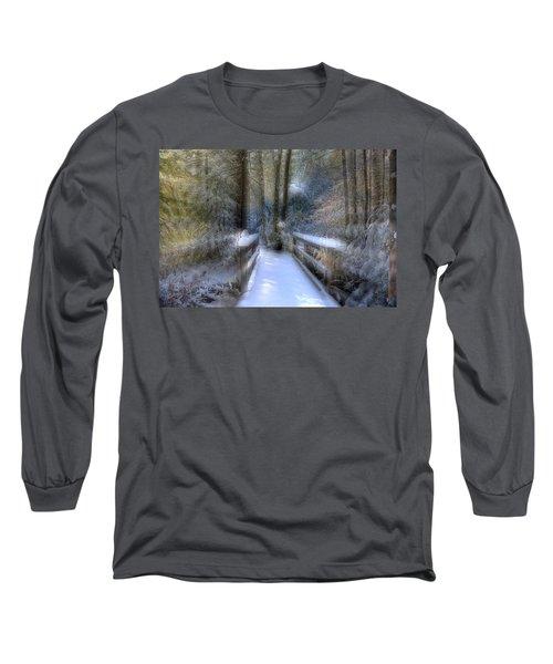 Winter Light On Bridge Long Sleeve T-Shirt