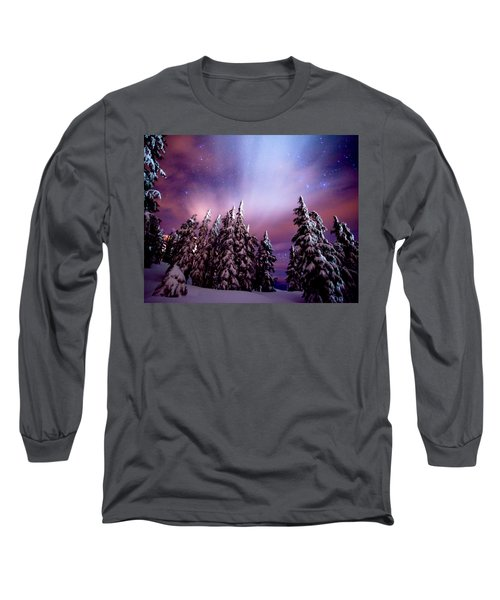 Winter Nights Long Sleeve T-Shirt by Darren  White