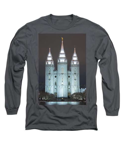 Winter Reflection Long Sleeve T-Shirt by Dustin  LeFevre