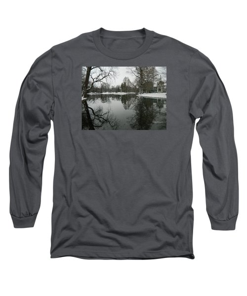 Long Sleeve T-Shirt featuring the photograph Winter Reflections 2 by Kathy Barney