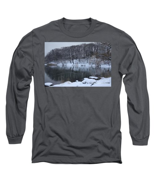 Long Sleeve T-Shirt featuring the photograph Winter Reflections by Dora Sofia Caputo Photographic Art and Design