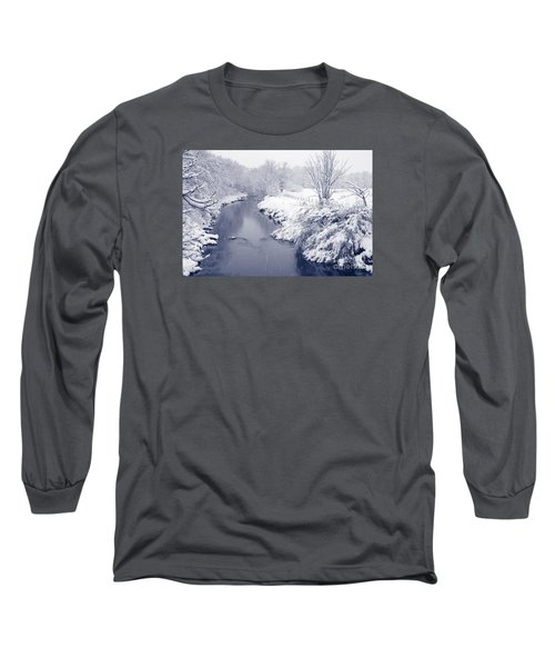 Long Sleeve T-Shirt featuring the photograph Winter River by Liz Leyden