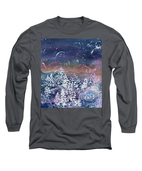 Long Sleeve T-Shirt featuring the painting Winter Solstice  by Kathy Bassett