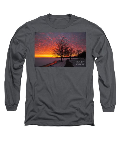 Long Sleeve T-Shirt featuring the photograph Winter Sunset by Terri Gostola