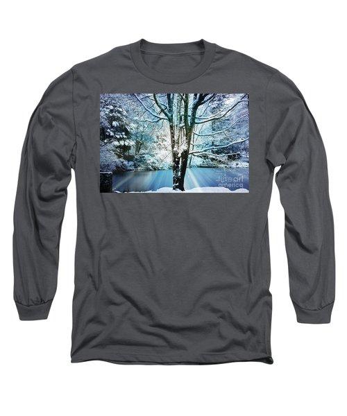Long Sleeve T-Shirt featuring the photograph Winter Wonderland by Judy Palkimas