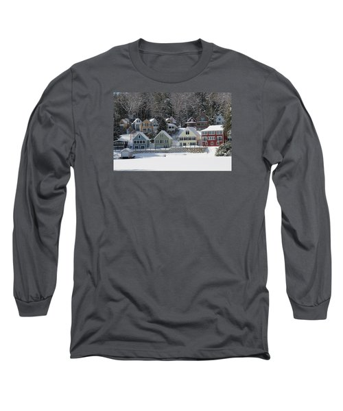 Wintery Alton Bay Nh Long Sleeve T-Shirt