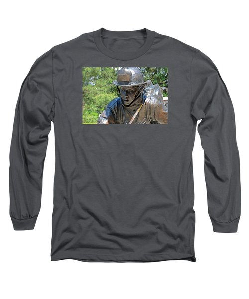 Long Sleeve T-Shirt featuring the photograph Wisconsin State Firefighters Memorial 3  by Susan  McMenamin