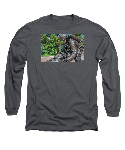 Long Sleeve T-Shirt featuring the photograph Wisconsin State Firefighters Memorial 4 by Susan  McMenamin