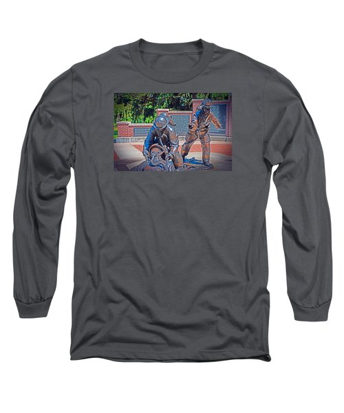 Long Sleeve T-Shirt featuring the photograph Wisconsin State Firefighters Memorial Park 2 by Susan  McMenamin