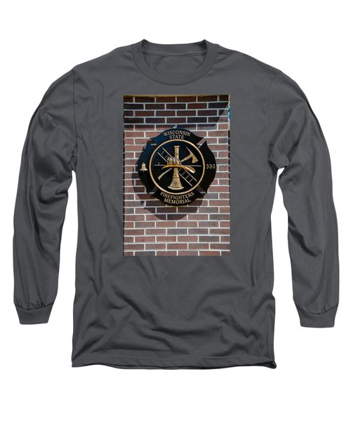 Long Sleeve T-Shirt featuring the photograph Wisconsin State Firefighters Memorial Park 5 by Susan  McMenamin